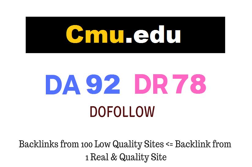 Guest Post on Carnegie Mellon University - Cmu. edu - DA92 DR78