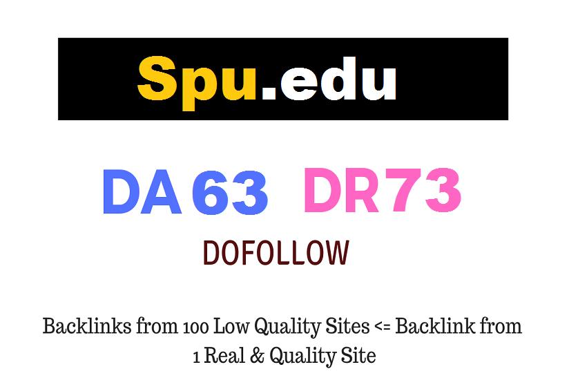 Guest Post on Spu. edu DA63 DR73