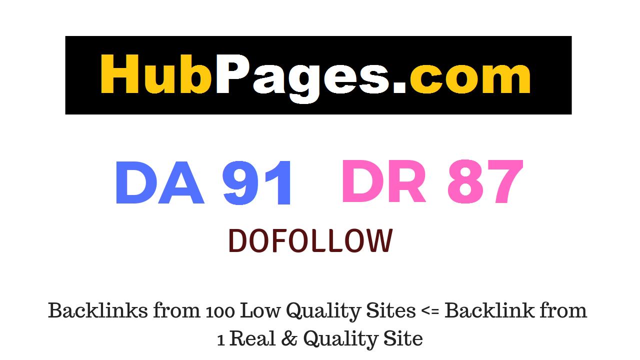 Publish Guest Post on Hubpages.com DA91 DR87