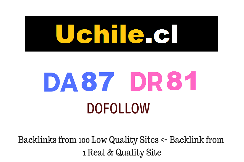 Guest post on University of Chile - Uchile. cl - DA87 DR81