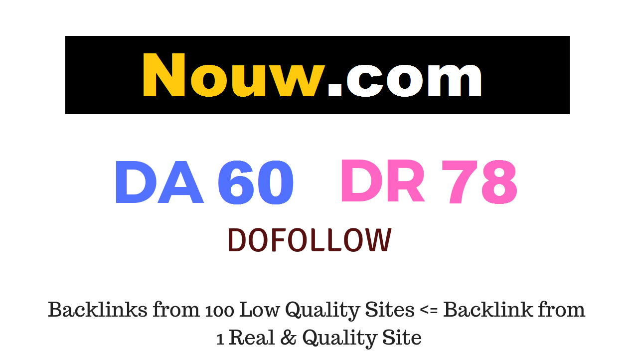 Publish Guest Post on Nouw. com DA60 DR78
