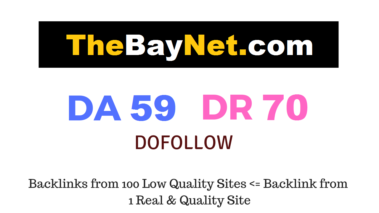 Publish Guest Post on Thebaynet. com DA 59 DR 70