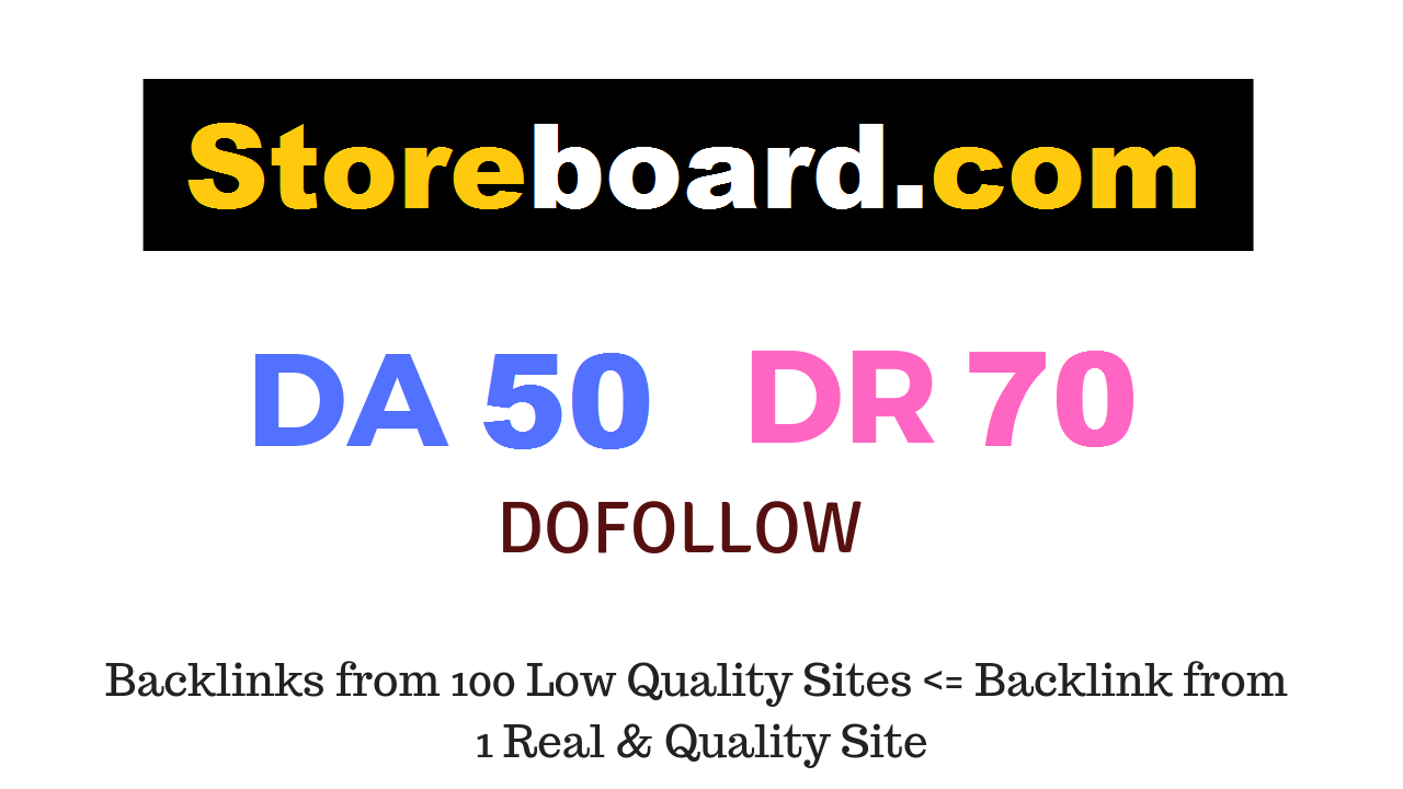 Guest Post on Storeboard. com DA50 DR70