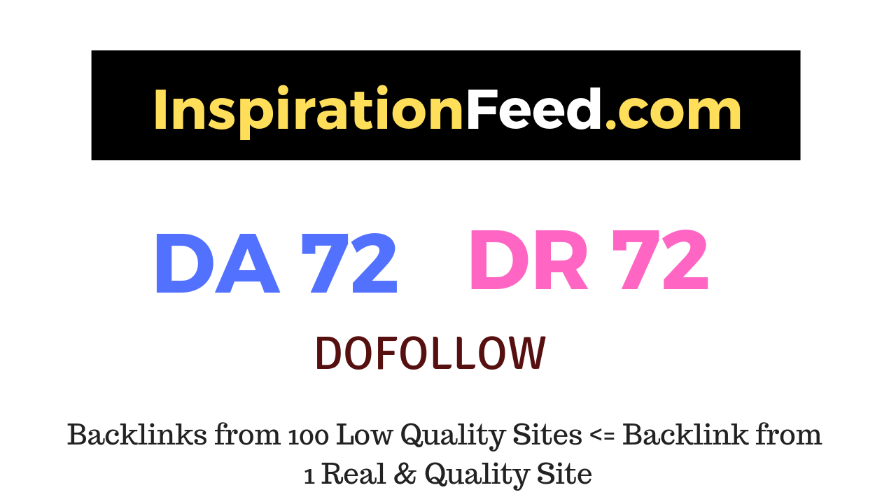 Publish a guest post on InspirationFeed. com DA72 DR72