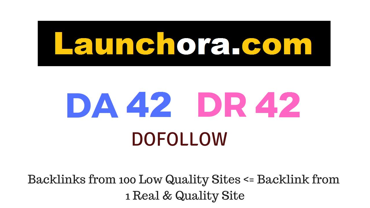 Publish a guest post on Launchora.com DA42 DR42