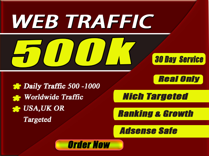 drive 40K usa targeted web traffic via social media