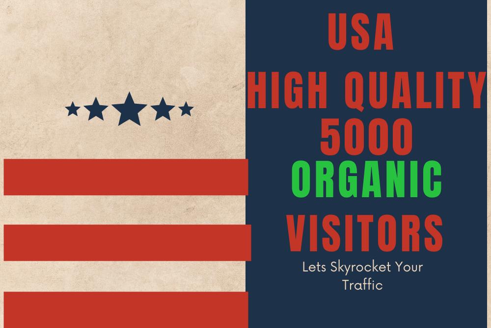 USA High Quality Organic Unique Website visitors