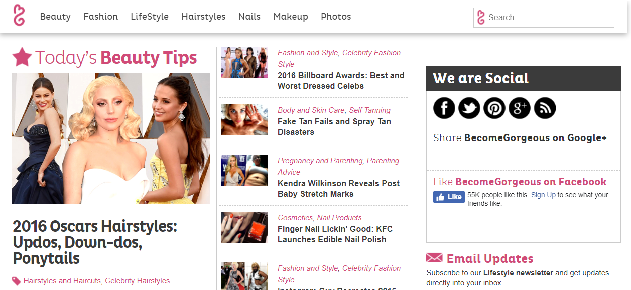 Guest post on fashion, celebrity and lifestyle blog in 24hrs