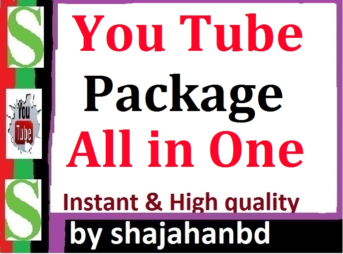YouTube Package Promotion All In One Instant High Quality