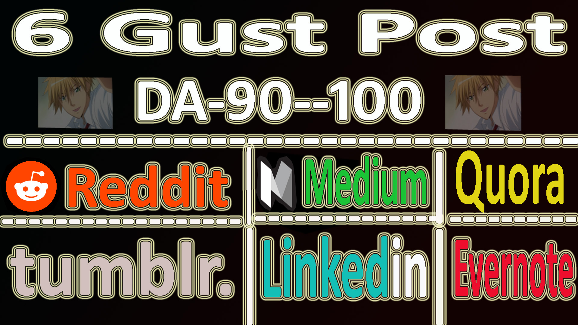 SUPERSTRONG DA90+ Gust Post On 6 Website Fast Google Indexing