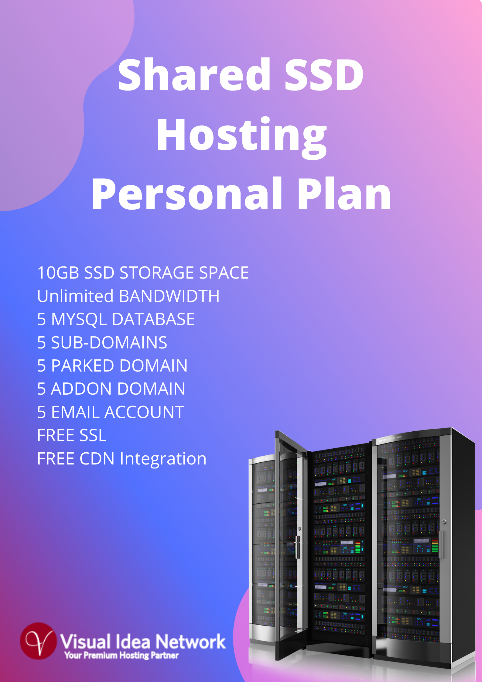 Shared SSD Personal Hosting Plan