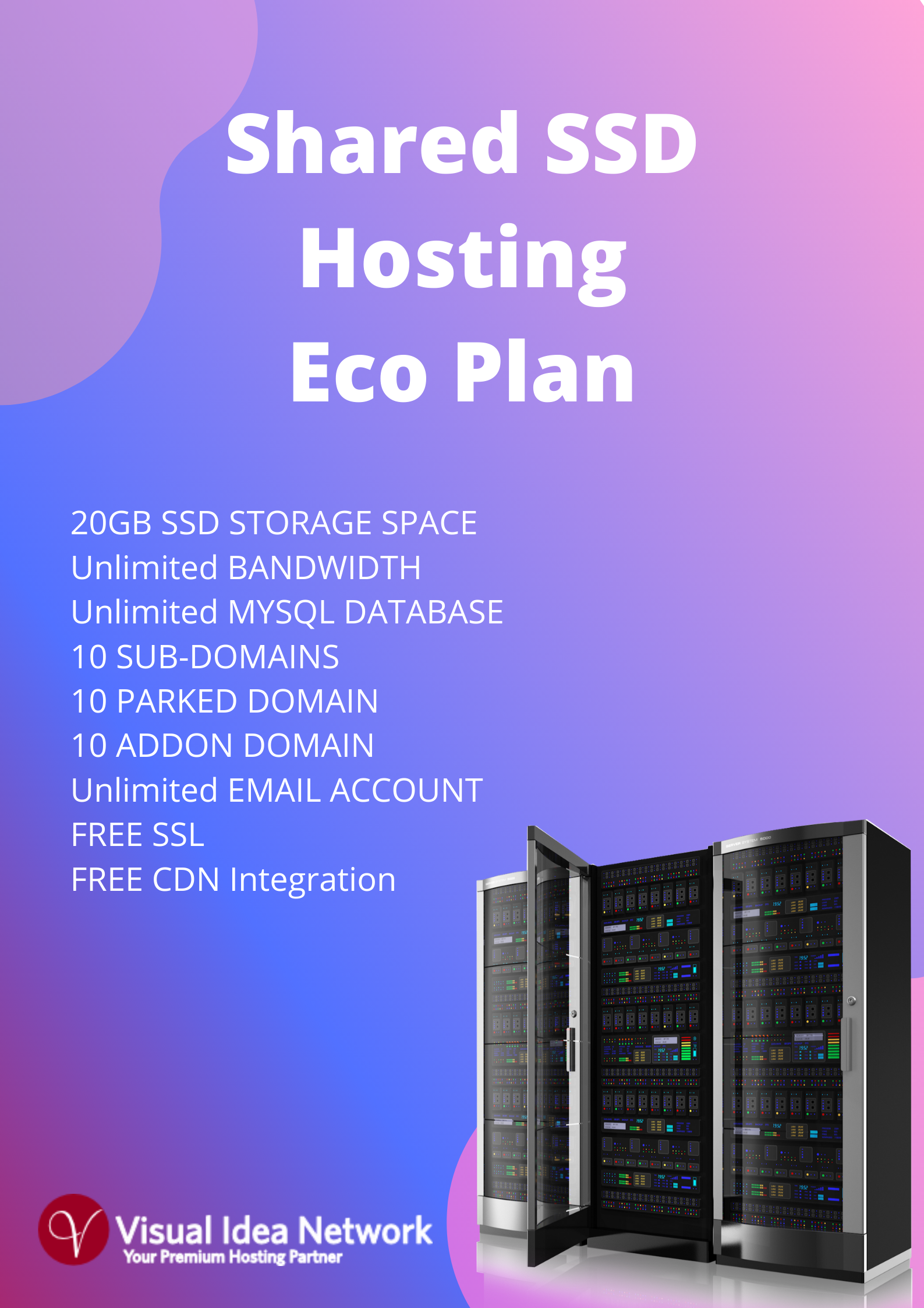 Shared SSD Economic Hosting Plan