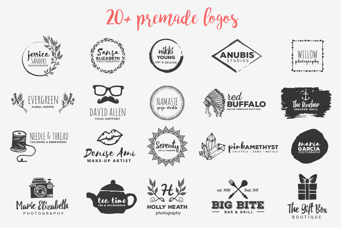 Design professional hand drawn logo in just 12 hours