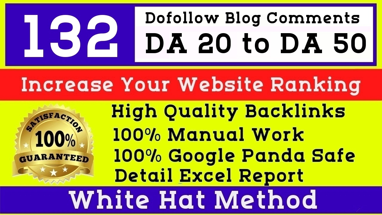 I will manually post 132 High DA Blog Comments