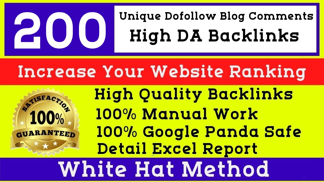 I will Manually create 200 high quality dofollow High DA blog comments