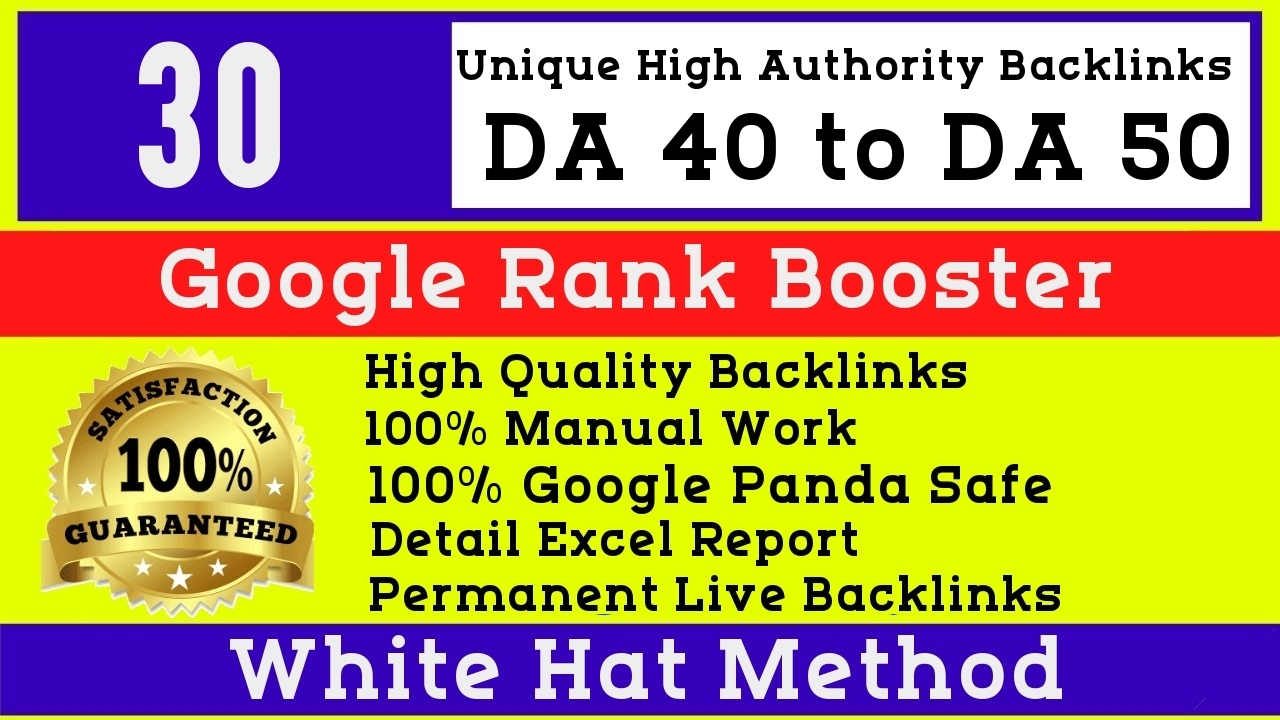 I will do 30 manual high authority seo White hat profile backlinks
