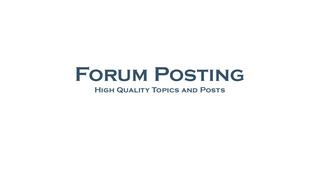 Post 10 topics or replies on your forum