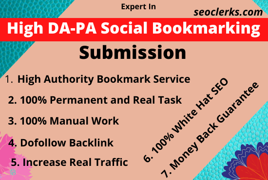 50 Top Social Bookmarking Posting manually