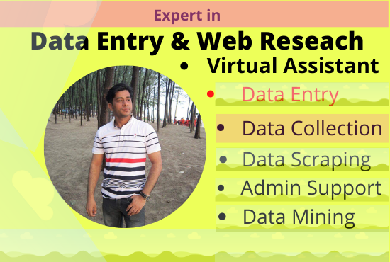 I Will Do Perfect Data Entry And Web Research For your Business