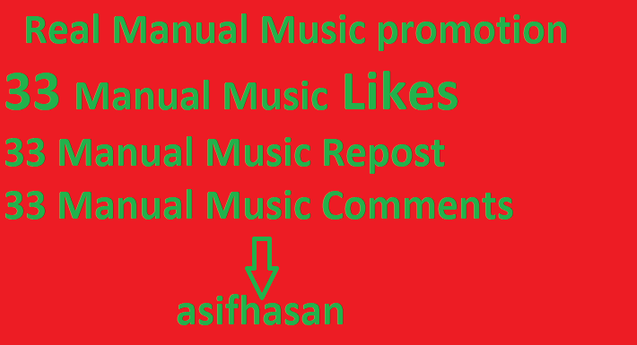 Real Manual Music promotion All