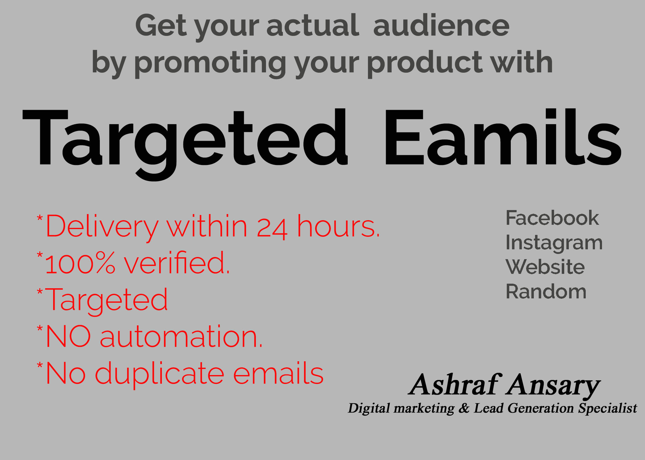 Get 1,00,000 targeted email leads