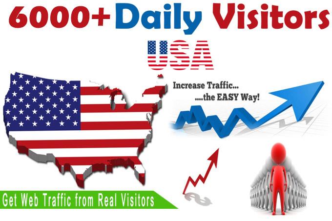 Get 6000+ USA unique website visitors