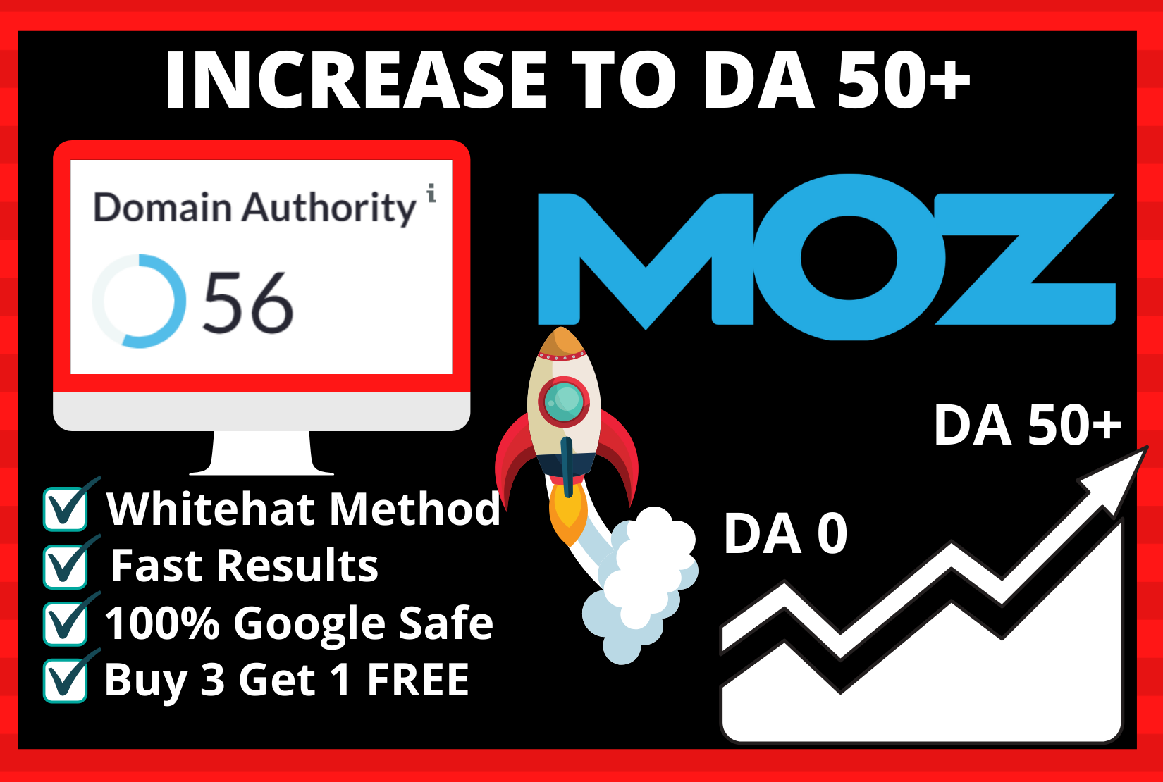 Whitehat Method - Will Boost Website DA 50+In 14 days