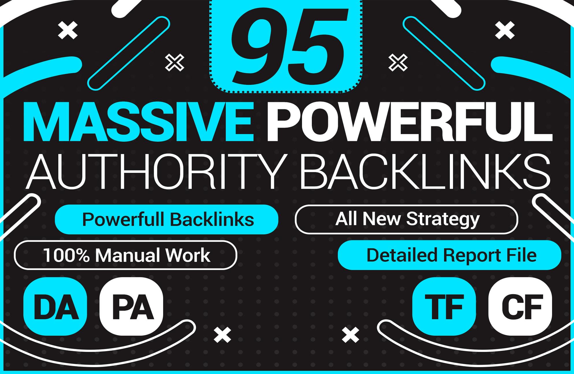 build high quality SEO backlinks from da30 to da 100 sites manually