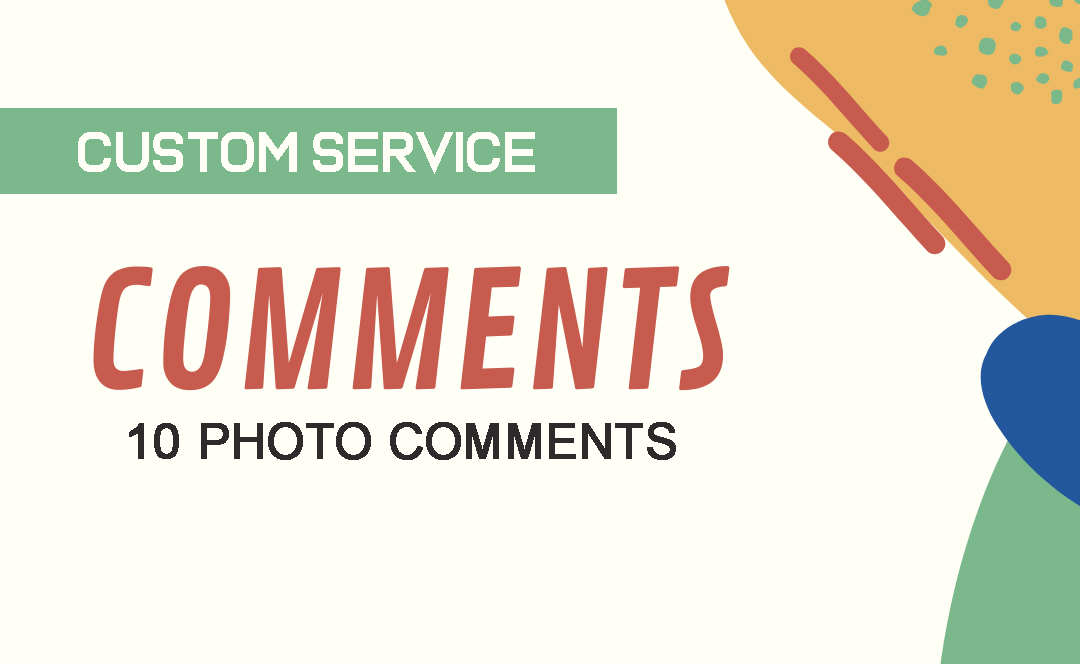 Custom Service 10 Photo or Blog Comments