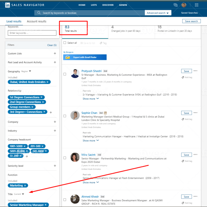 I will do lead generation by using LinkedIn sales navigator