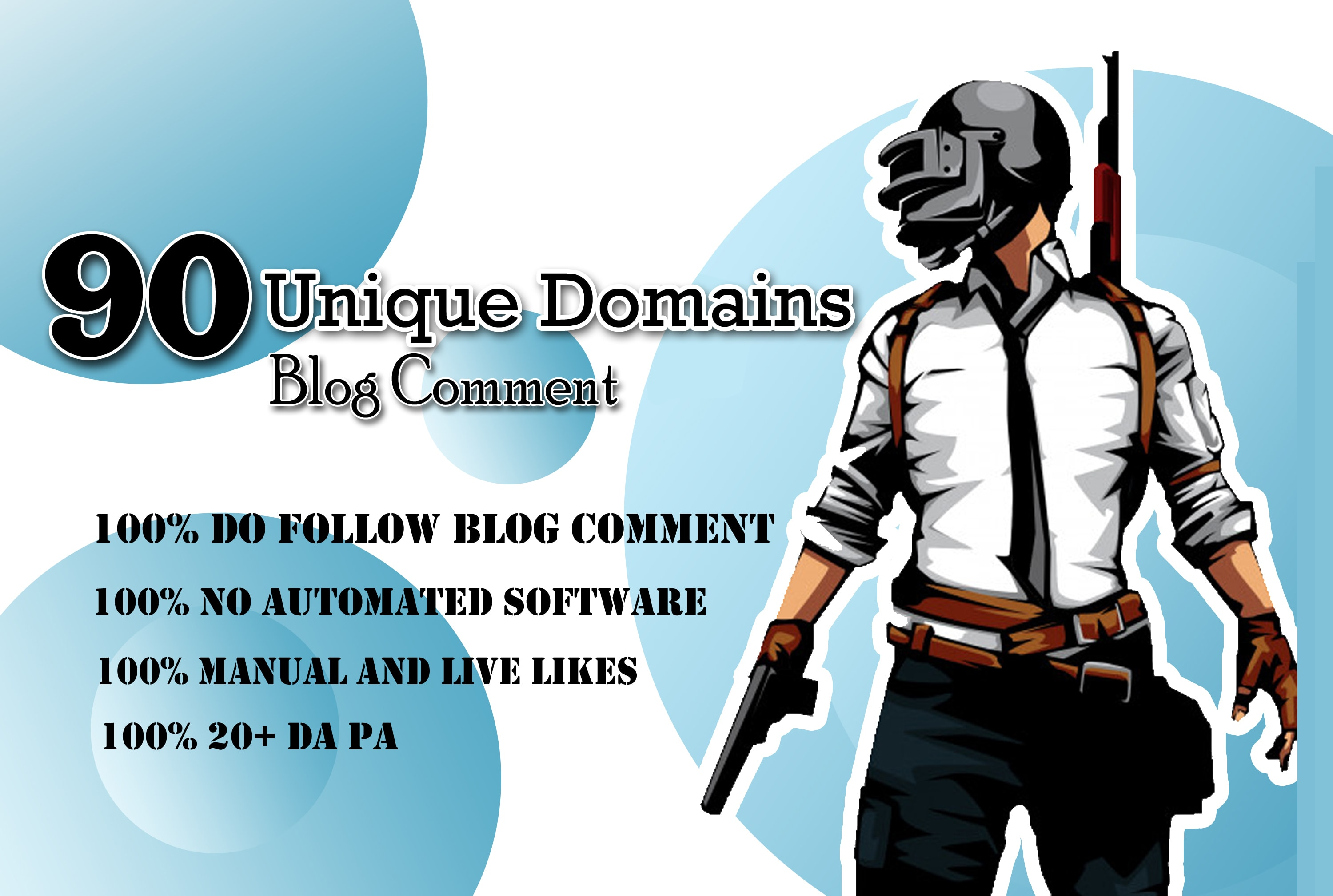 I will manually 90 unique domains SEO service blog comments backlinks