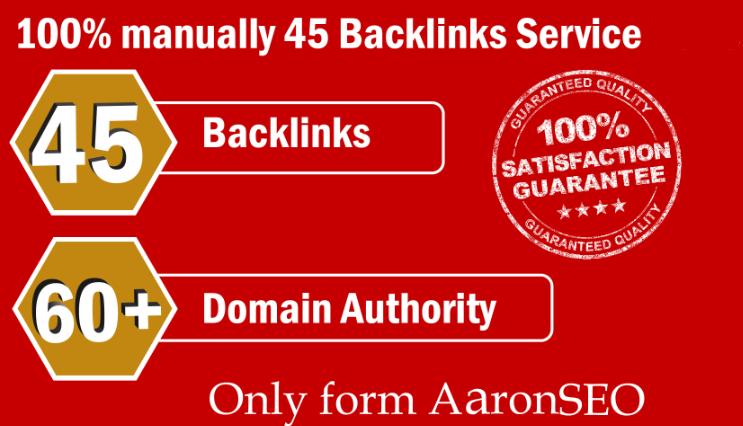 Get 45 Backlinks on DA 60+ PLATFORMS