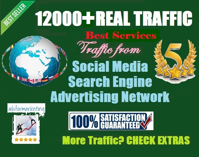 12000 Increase your website organic visitors with low bounce rate