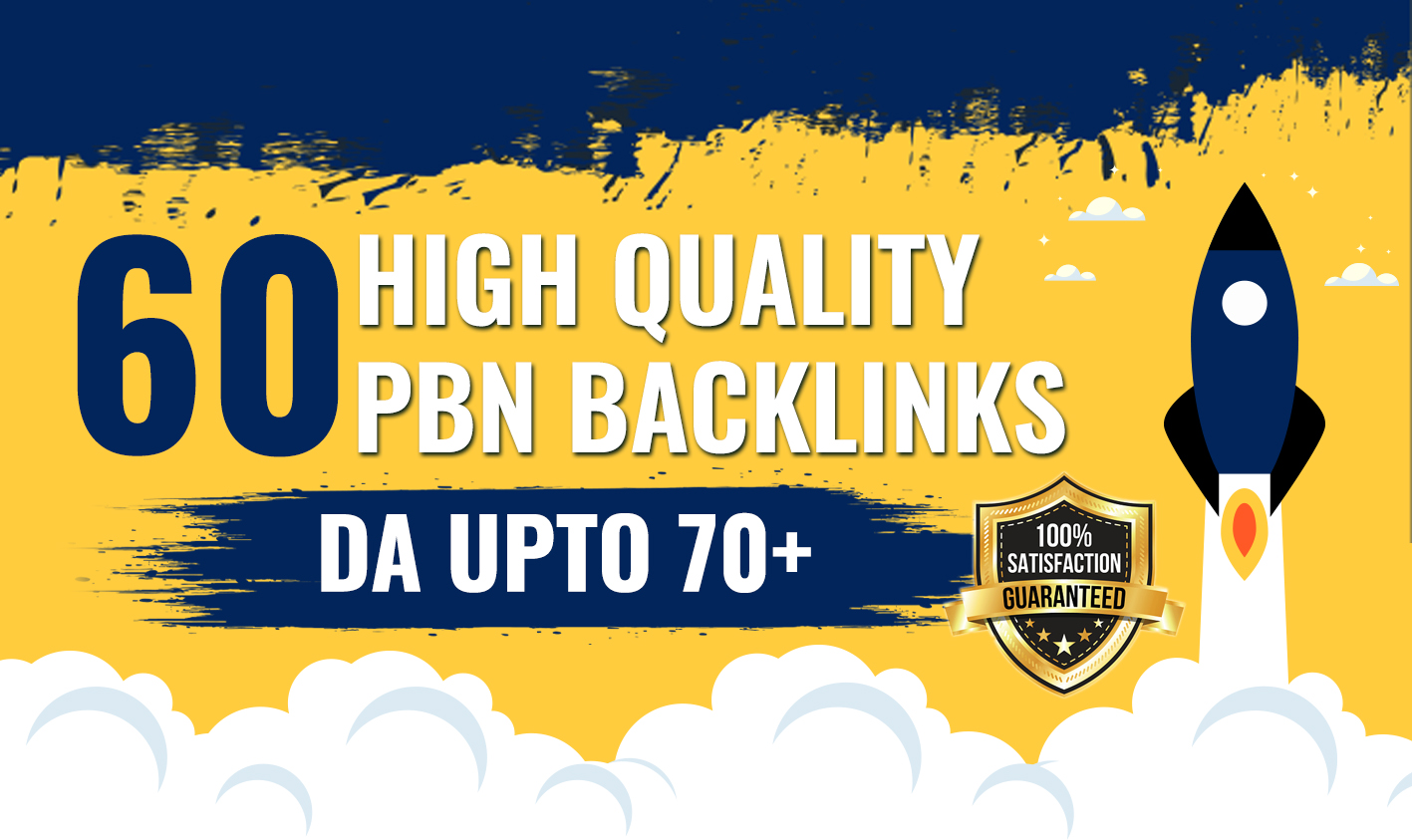 60 PBN's DA 70+ Plus Homepage High-Quality PBNs Links with Daily drip feed