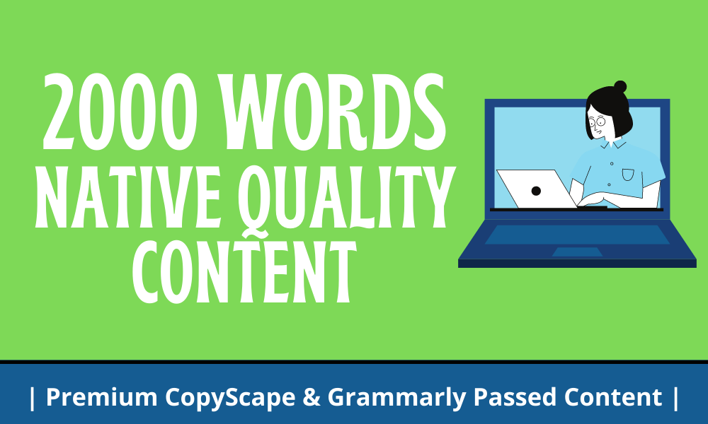 Write 2000 Native Words Articles or Product Reviews