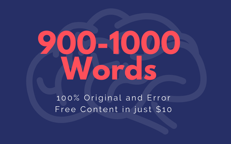 I will write 1000 Words Unique Article