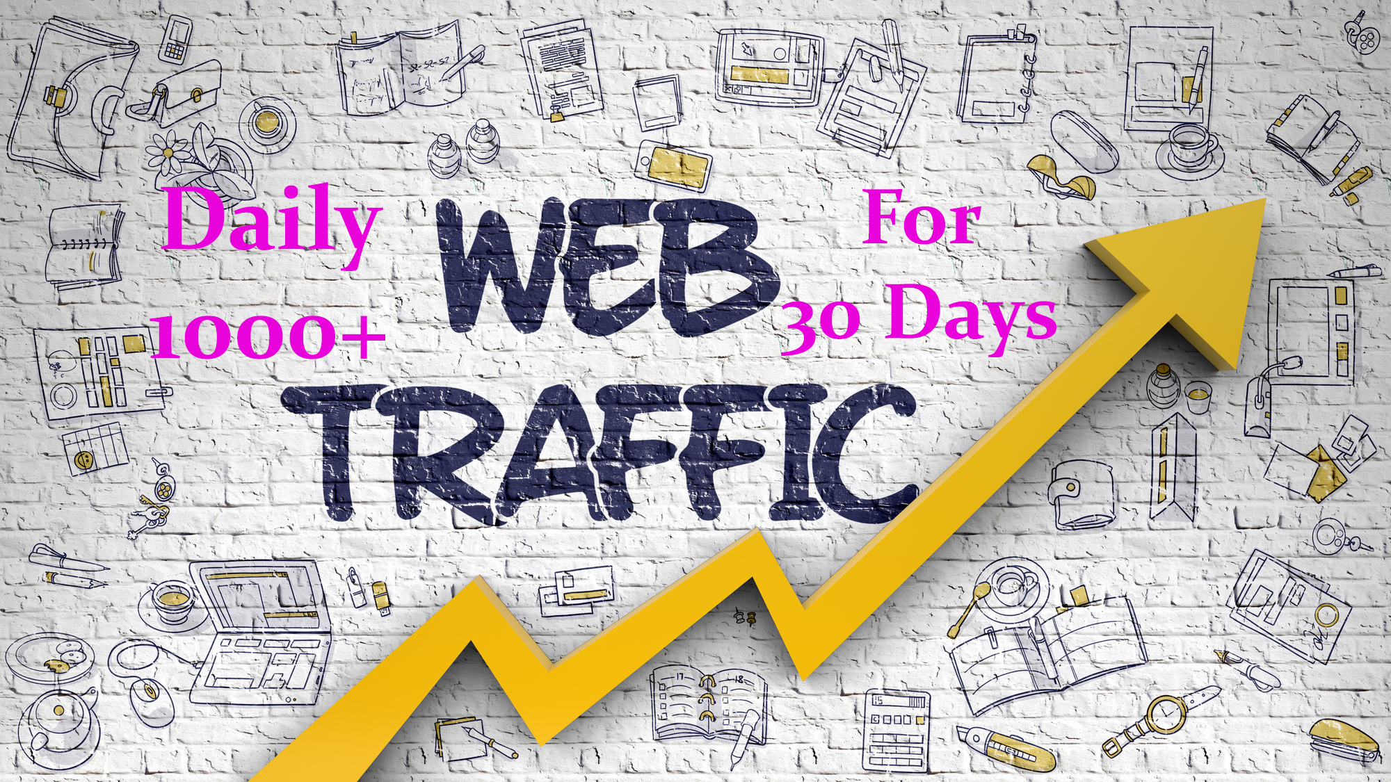 Provide daily 1000+ organic web traffic for 30 days