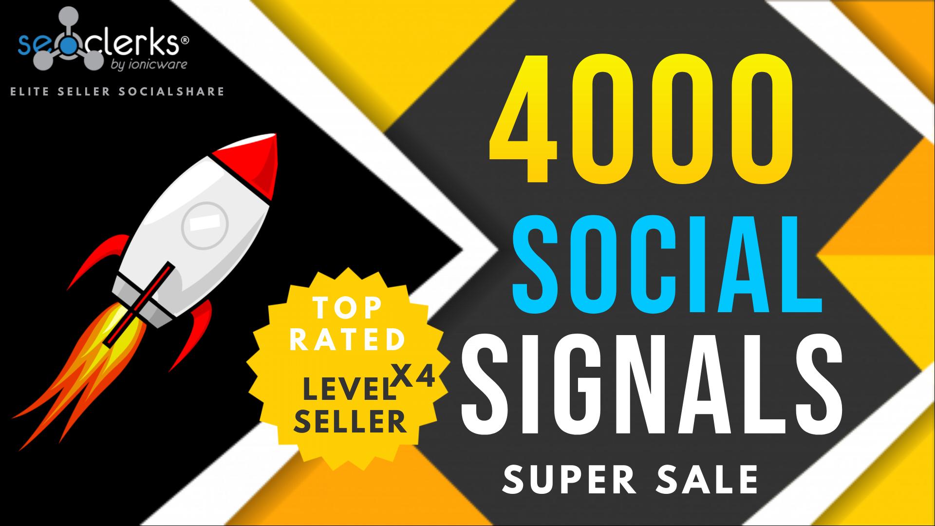 4,000 PR10 Social Network Signals / Bookmarks / Backlinks / Help To Website Traffic Google Rank