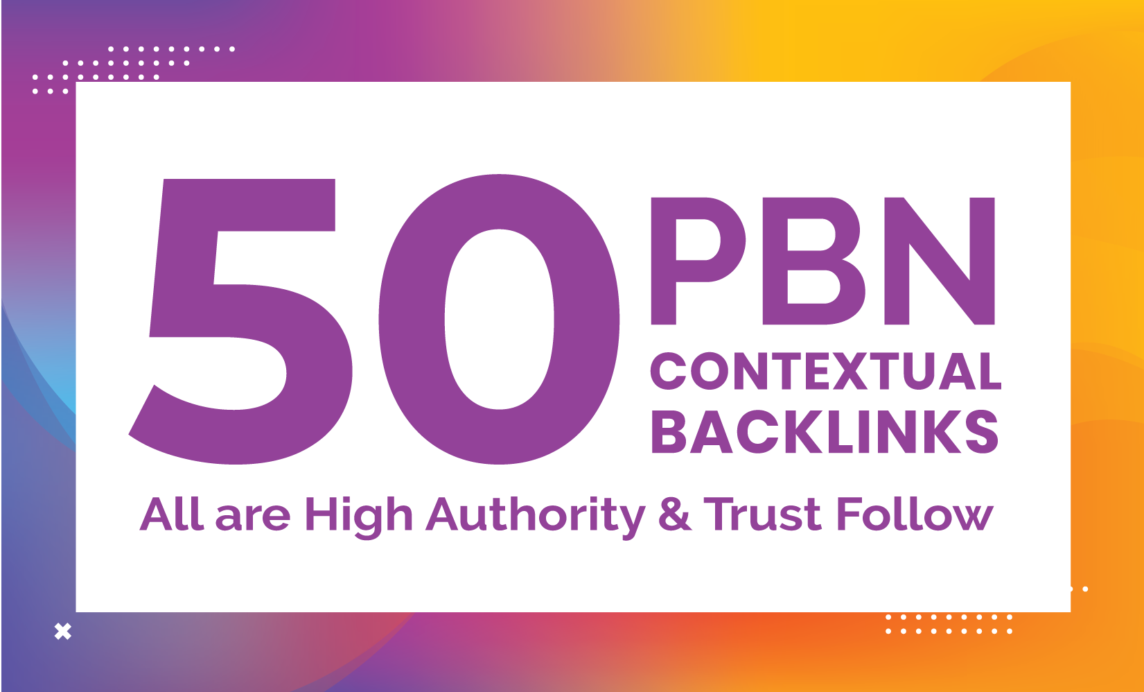 I will do premium 50 pbn post backlinks