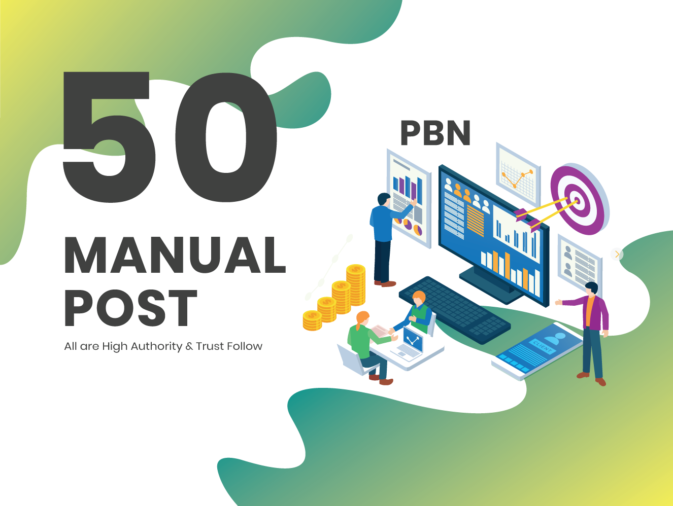 I will do 50 high metrics PBN posts on contextual backlinks