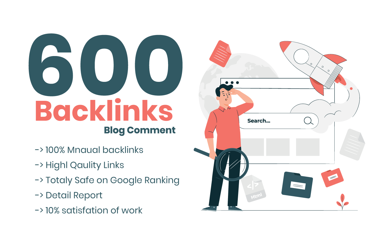 I will do 600 dofollow blog comment backlinks with DA 20 plus