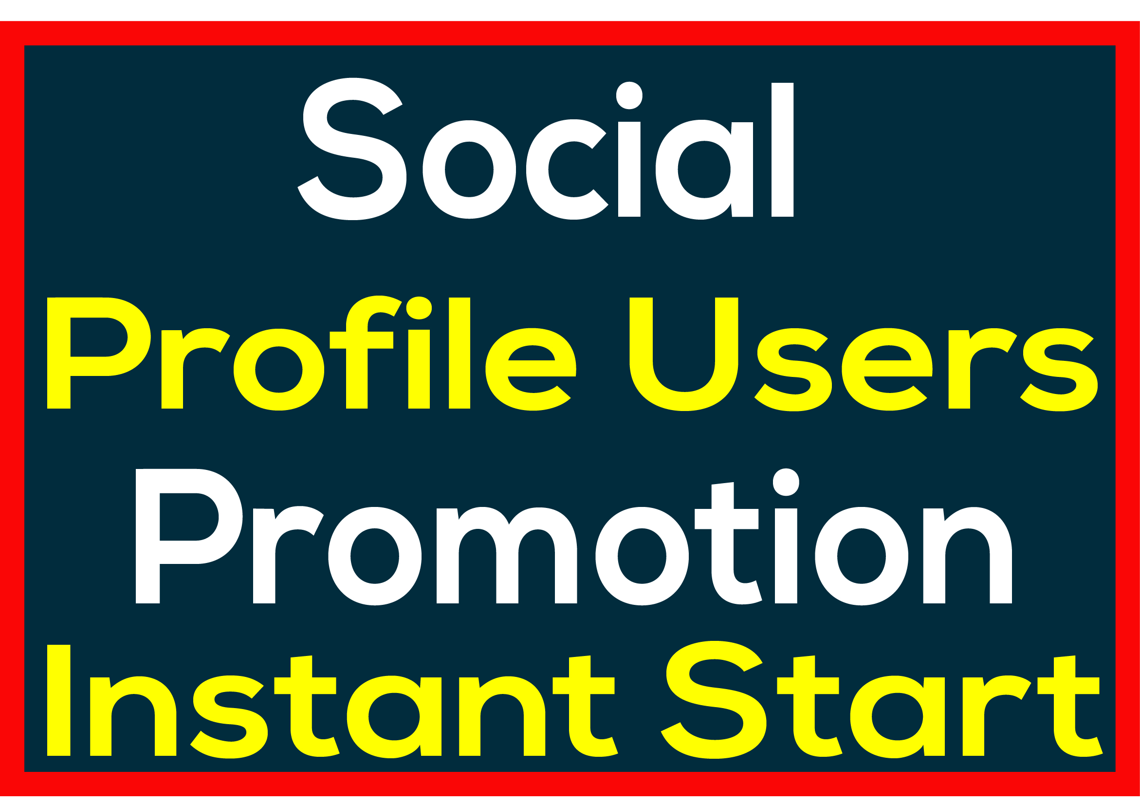 Social Media Profile HQ User Promotion Complete 24-48 Hours