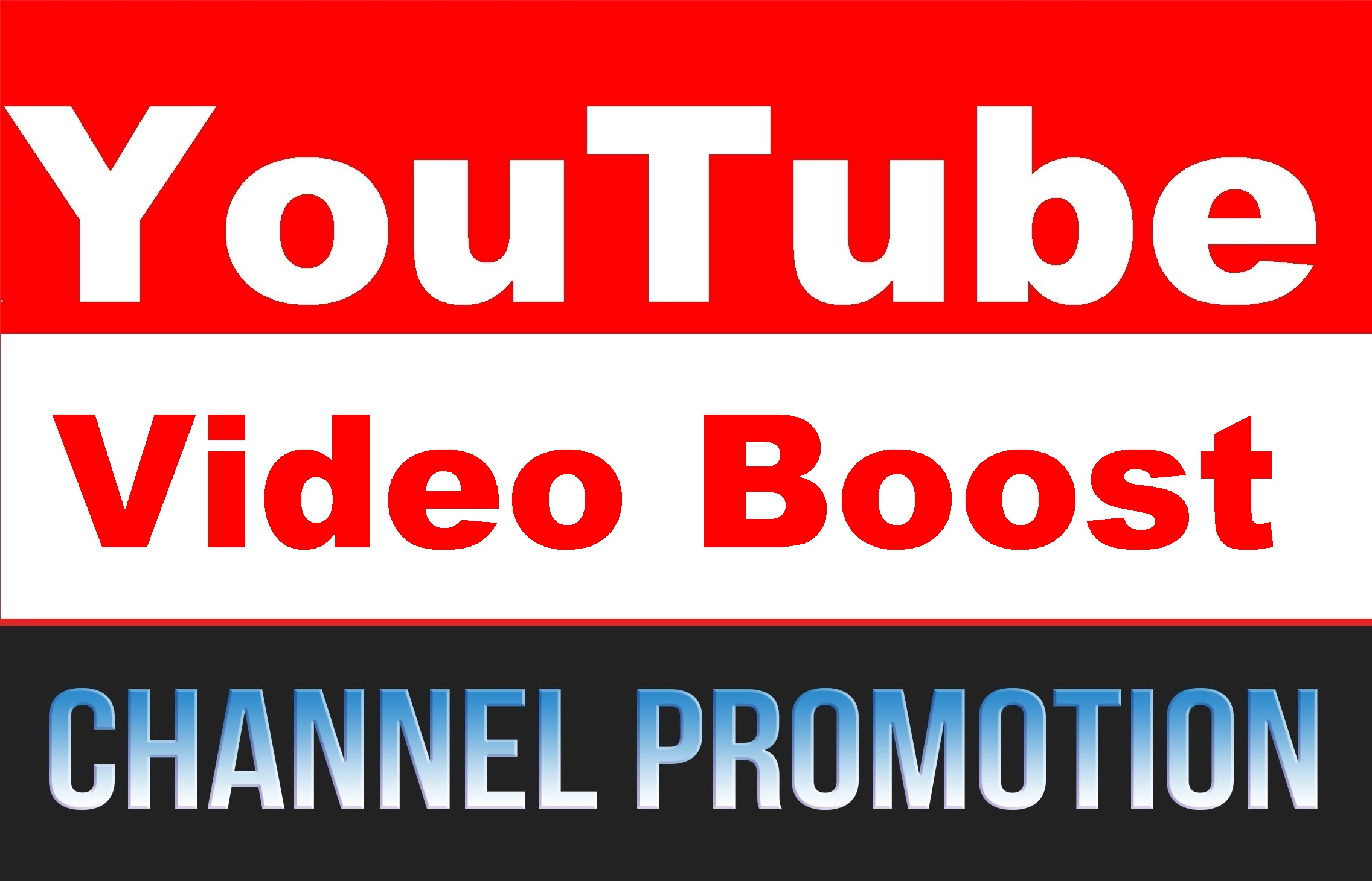 Organic YouTube Video Boost and Chanel User Promotion