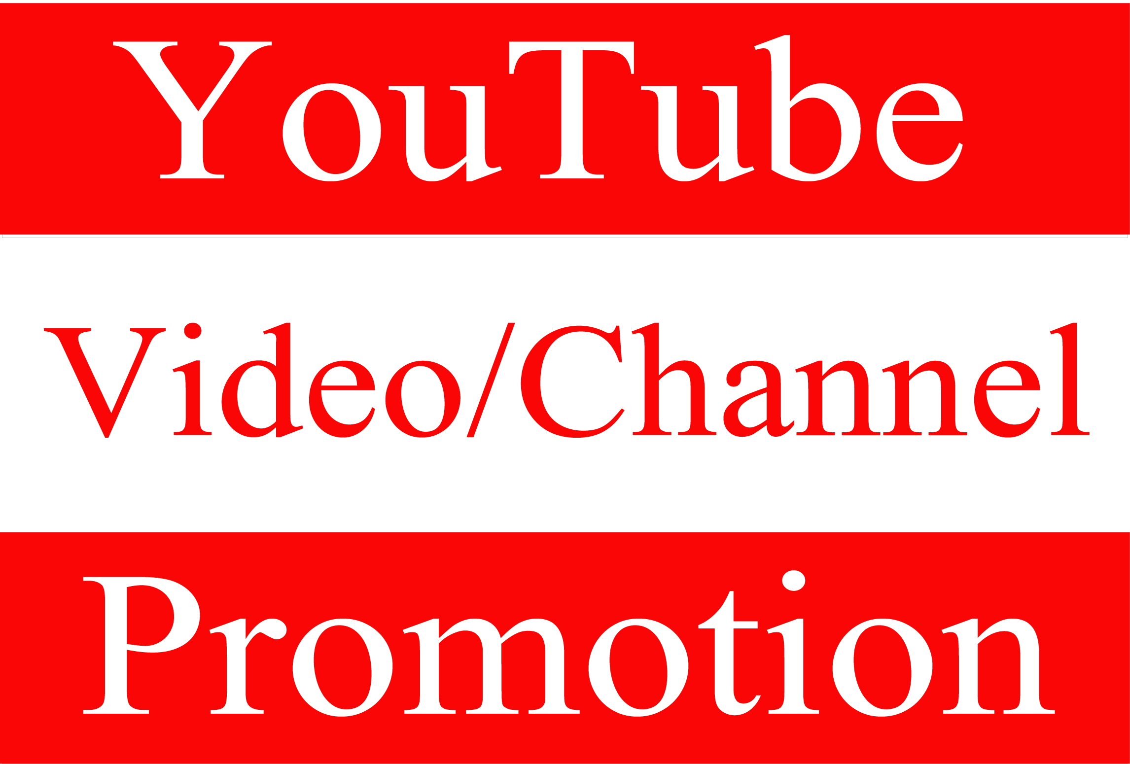 Super Fast Video/Channel Promotion High Quality