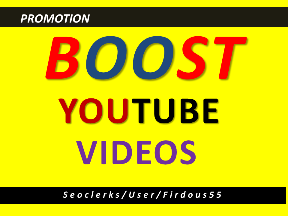 Get High Quality YouTube video Vio promotion