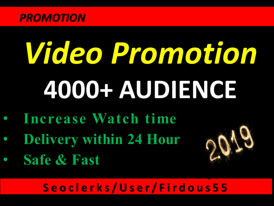 Get High Quality YouTube video Vio promotion for $15