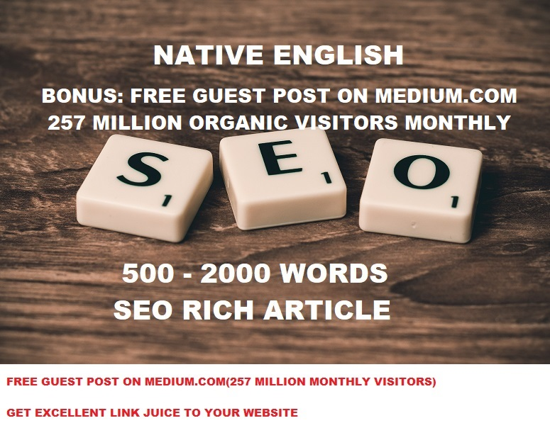 Write 500 Words Seo Article - USA or UK English