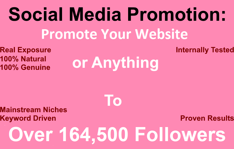 Promote Your Website or Anything to 164,500 People