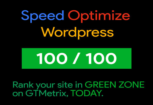 Site Speed up & SEO Optimize Website - 2X Speed Guaranteed