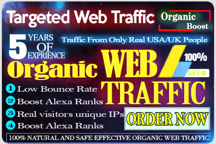 SEO FRIENDLY Website Real Traffic Google Alexa Platforms Countries targeted